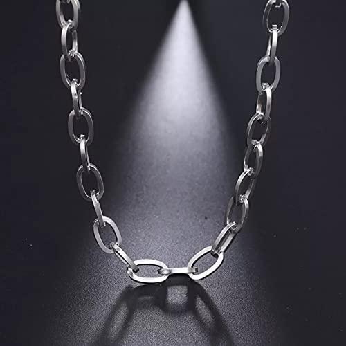 Moda Collar Joyas Gargantilla Collares punk para mujer, collar de cadena de eslabones anchos de acero inoxidable, gargantilla, joyería de moda para fiestas, accesorios de bricolaje Parejas Regalos