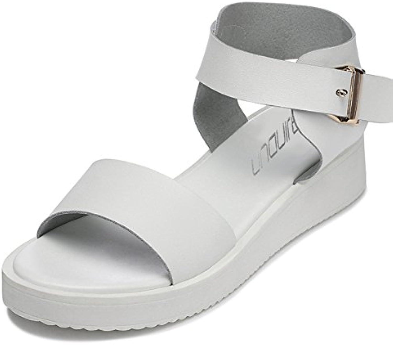 RUGAI-UE Fashion shoes, sandals, summer girls, students, fashion, big sandals.