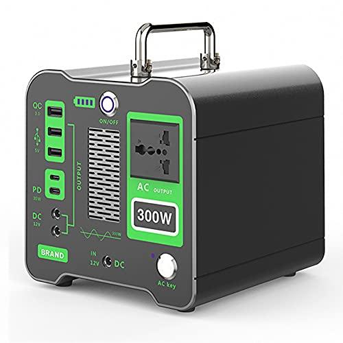 ZLH Central Eléctrica Portátil De 320WH 86400Mah Generador Solar con 220V / 300W (Pico 400W) CA Outlet Y PD Tipo-C Carga RÁPIDA Y LED, Batería De Litio De Respaldo para Acampar Al Aire Libre