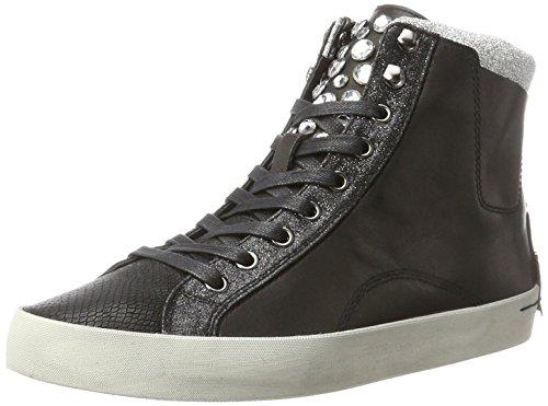 Crime London Damen 25002A17B Hohe Sneaker, Schwarz (Schwarz), 40 EU