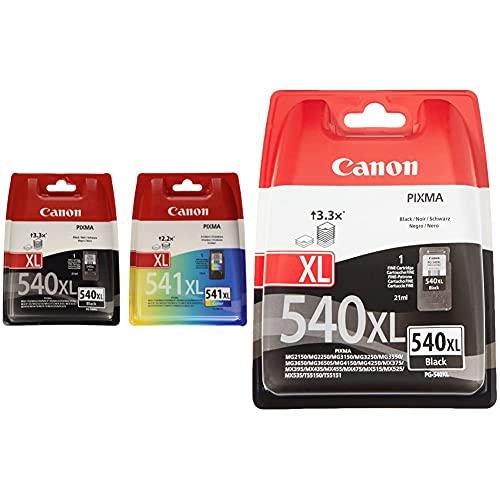 Canon pg-540xl + cl-541xl Cartucho de Tinta Original Negro XL y Tricolor XL para Impresora de inyeccion de Tinta pixma + PG-540XL Cartucho Tinta Original Negro XL para Impresora Inyeccion Tinta Pixma
