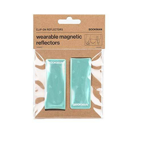 Bookman Clip-on Reflectors White Magnetiche Reflectores, men