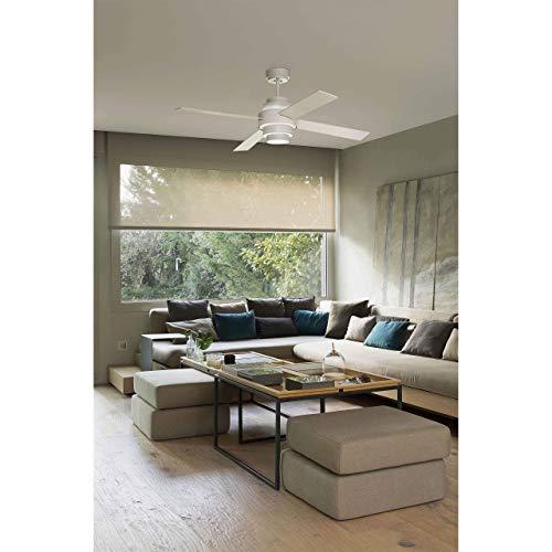 Faro Barcelona 33397 - DISC FAN Ventilador de techo con luz (bombilla incluida) LED, 35W, cuerpo de acero palas de plywood y difusor de pc, color blanco