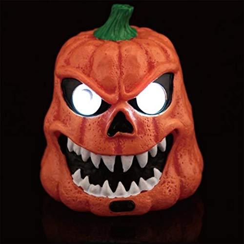 RCFRGV Halloween masker Verschrikkelijke Leds Lichtgevende Ogen Hars Glad Oppervlak Schedel Voor Halloween