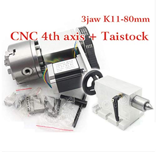 Learn More About CNC Router Engraving Machine Rotational 4th Axis Rotary Table A Axis 3 jaw 80mm chu...