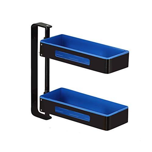 2 3 4 etages keukenplank kruidenrek wandplank badkamer frame 180 graden draaibaar multifunctioneel verstelbaar ruimte aluminium gratis gaten blauw (maat: 4 lagen)