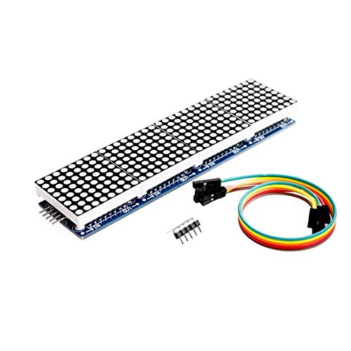 FYstar MAX7219 Punktmatrix 4 in einem Anzeigemodul für Arduino Microcontroller für Raspberry für Pi für PIC für ARM mit 5-poliger Leitung (mehrfarbig)