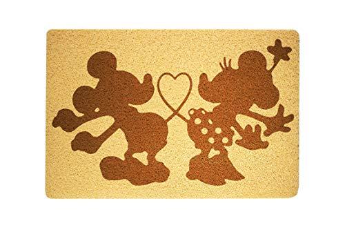 StarlingShop Felpudo con diseño de Minnie y Mickey Mouse, de Minnie y Mickey Mouse, felpudo de bienvenida, ideal para decoración al aire libre, regalo de cumpleaños