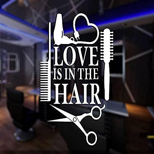 87x156cm barbiere adesivo personalizzato costole pane decalcomania poster vinile decorazione della parete di arte decorazione della finestra taglio di capelli rasoio decalcomania
