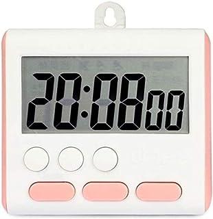 JINHAN ساعة توقيت سوداء للمطبخ، شاشة LCD كبيرة للقراءة السريعة، ساعة توقيت رقمي، ساعة المطبخ، مؤقت العد التنازلي، الدقيقة ...
