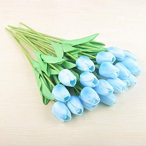 Xinger Tulp Bloemen Kunstbloemen EffenBloemen Bruiloft Huis Huis Tafel Kantoor Decor Foto Nep Bloemen, blauw