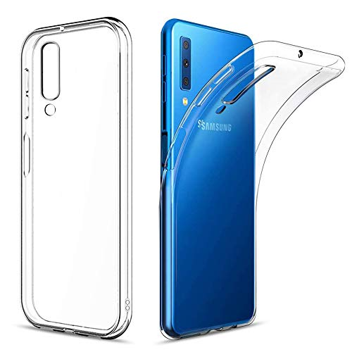 Amonke Funda para Samsung Galaxy A7 (2018), Silicona Transparente TPU Protectora Carcasa Antigolpes, Anti Caídas Ultrarock Ultrafina Suave Case Cover Compatible con Samsung Galaxy A7 2018