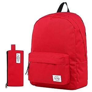 41UkHmkgeYL. SS300  - Hotstyle SIMPLAY Mochila Escolar Clásico, 44x30x12,5cm, Rojo, con Estuche