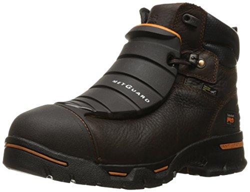 "Timberland PRO Men's Endurance 6"" Steel Toe EX Met Guard Industrial & Construction Shoe, Brown Full Grain Leather, 12 W US"