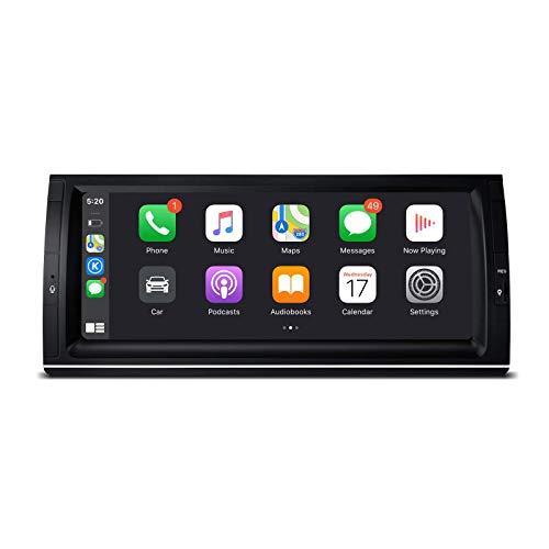 KAUTO 10.25'Android 10 Car Stereo Radio Player Navegación GPS Unidad Principal DSP incorporada Admite Android Auto CarAutoPlay OBD DVR Dab + Control del Volante para BMW X5 E53 (1999-2006)