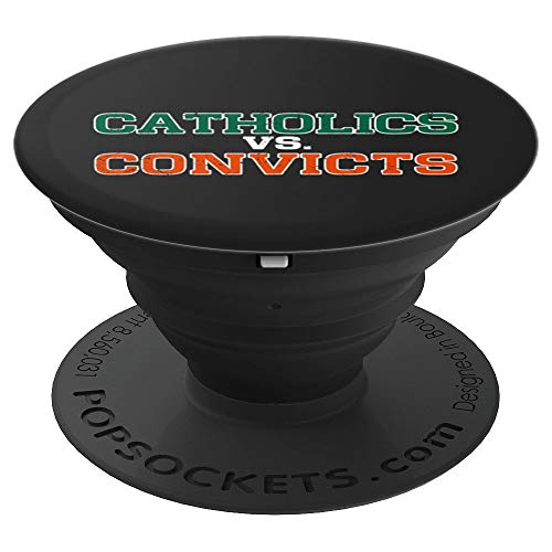 Catholics Vs. Convicts Vintage 1988 Football Gift PopSockets Agarre y Soporte para Teléfonos y Tabletas