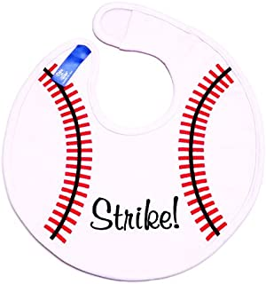 Dibs on Bibs Baseball Baby Bib