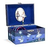 Jewelkeeper - Carillon portagioielli per Bambina con Ballerina Rotante ed Un Design Glitterato - Melodia dell'Lago dei Cigni