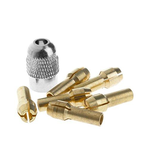 YIFEIJIAO, Pinzas de Bronce de 6 Piezas 1,0/1,6/2,0/2,4/3,0/3,2 + M8 * 0,75 para Herramientas rotativas