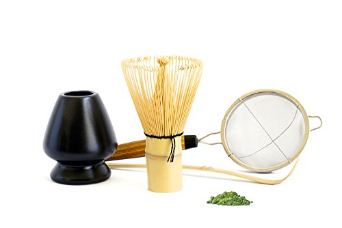 Matcha Whisk Set with Holder Stand – 4-piece
