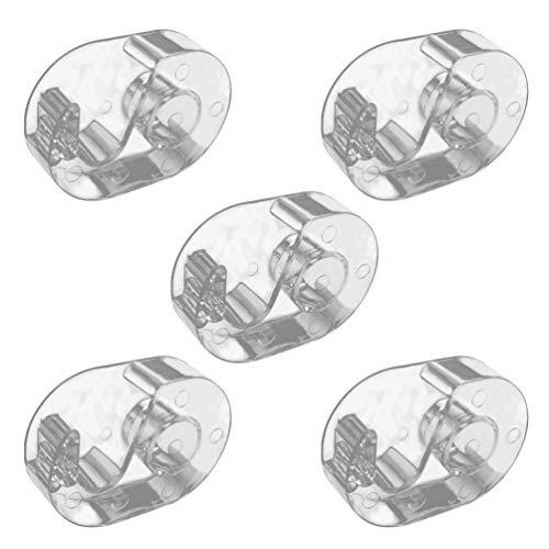Pixnor Coupe-Cils Coupe-Cils Extension de Ruban Distributeur de Ruban Transparent Support de Stockage de Bande pour Femmes Filles 5 Pcs