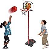 GAYISIC Ensemble de Basketball Portable et Ajustable - avec Filet et Ballon - Jeu de Sport réglable intérieur et extérieur, pour Enfants Trois Ans et Plus