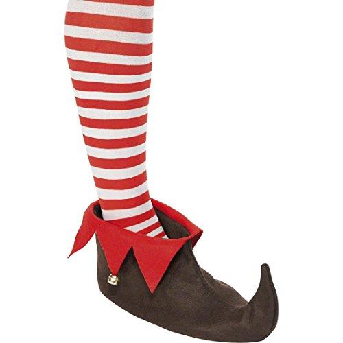 Amakando Glöckchen Elfenschuhe Elfen Stiefel Hofnarr Schuhe Kobold Elfenstiefel Feenschuhe Zwergen Kostüm Zubehör