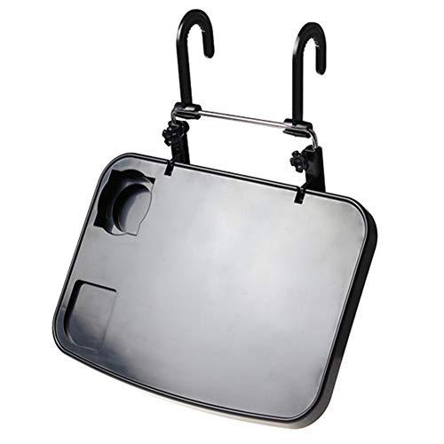DaoRier Faltbare Auto-Rücksitz Laptop-Halter Auto Laptop Halterung Getränkehalter Notebooktisch KFZ Tischhalterung Schwarz
