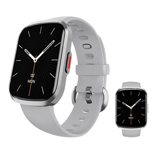 Smartwatch, Reloj Inteligente Mujer Hombre Niños 13 Modos Deportivos, Fitness Tracker Ultrafinos con Monitor de Sueño Caloría Pulsómetros, Pulsera Actividad Impermeable IP68 para Android iOS (Plata)