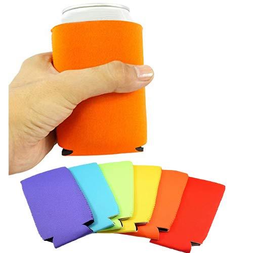 Enfriadora de Latas, Outgeek 12PCS Can Sleeve Neopreno Plegable con aislamiento Soda Botella Holder Partido de Calidad Premium Plegable Cubrela Funda Cooler Sleeve-Multicolor