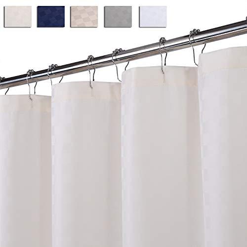LinTimes Duschvorhang Creme, Hotel Luxury 190 GSM Thick Polyester Duschvorhang Shower Curtain, Creme, 180x200 cm (Verpackung MEHRWEG)