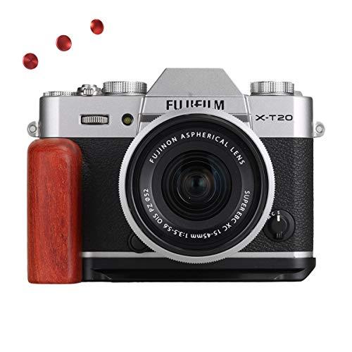 WEPOTO XT20R赤檀木製カメラグリップメタルブラケットハンドルL-ブラケットFujifil富士X-T30/X-T20T10に適用