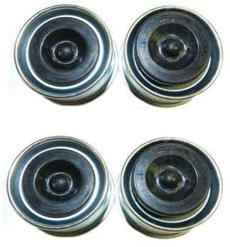 ASMSD Replaces Trailer Axle Dust Cap Cup Grease Cover & with Rubber Plugs RV Camper Utility 1.98 (4 Pack)、