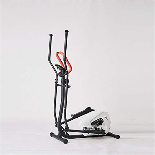 Maquina Eliptica Máquina eléctrica elíptica Máquina para correr vertical Entrenador elíptico Mini Cinta de correr Ejercicio Bicicleta Fitness Dinámico Bicicleta ( Color : White , Size : 97*61*156cm )