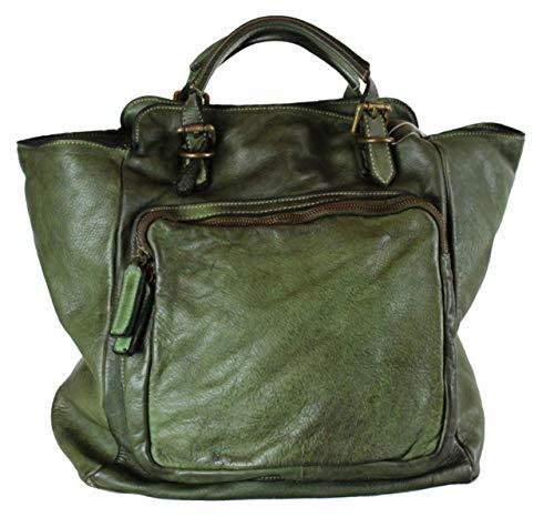 BZNA Bag Rob grün Backpacker Designer Rucksack Damenhandtasche Schultertasche Leder Nappa sheep ItalyNeu