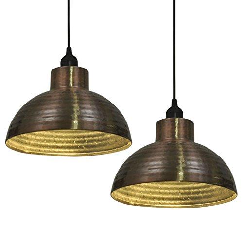 Plafondlampen 2 stuks halfrond koperkleurig plafondverlichting materiaal: metaal