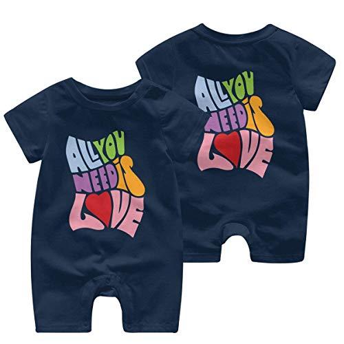 RROOT Alles wat je nodig hebt is liefde Peuter Baby korte mouw Bodysuit Peuter Jumpsuit 0-24 Maanden