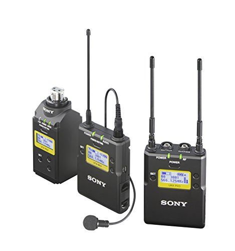 Sony UWPD16/14 Lavalier Microphone, Bodypack TX, Plug-On TX and Portable RX Wireless System,Black