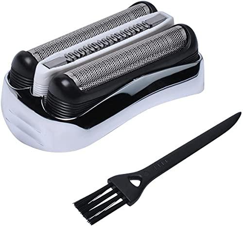 Cabezal de afeitado para afeitadora eléctrica Braun Series 3 32S – Recambio/Accesorios Braun 3020s 395cc 390cc 380 370cc 370 360 330 con cepillos Poweka