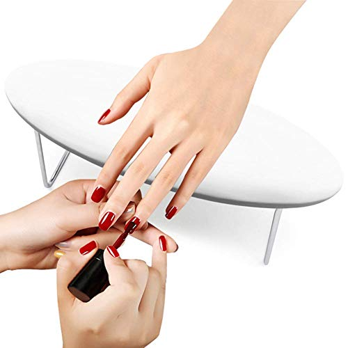 Luxury Nail Arm Rest, Microfiber Leather Manicure Hand Pillow,Professional Nail Rest Cushion Table Desk Station for Nails Art Salon and Home DIY (White)