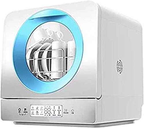 Encimera de lavavajillas marco interior de acero inoxidable la máquina se puede limpiar por sí misma portátil de escritorio compacto cocina azul