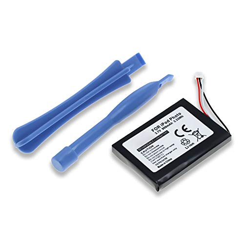 subtel® Batería Premium Compatible con Apple iPod 4. Generation Photo - A1059 A1099, 616-0183 900mAh Pila Repuesto bateria Incluye 2 palancas de plástico