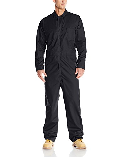 Red Kap Men's Twill Action Back Coverall, Black, 44