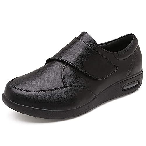 DXDUI Zapatos diabéticos, Zapatos de Hombre de Cuero, Zapatillas de Deporte para Hombres, Zapatos de Cuero para Hombre