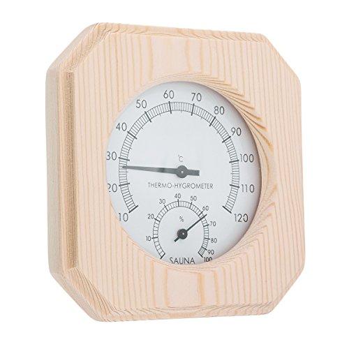 Tutoy Enkele Sauna Accessoire Houten Hygrothermograaf Thermometer Hygrometer Sauna Kamer
