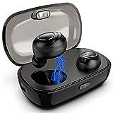 MINLUK TWS Oreillettes Bluetooth 5.0 sans Fil, Écouteur Bluetooth sans Fil de Sport Oreillettes Intra-auriculaire avec Boîte de Charge pour iPhone, iPad, Samsung, Sony, Android Smartphones etc.