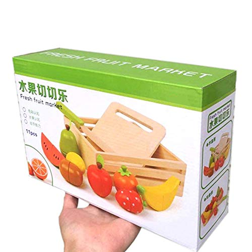 N\A Juguetes para niños de Madera Juego de Frutas Cortadas Simulación Serie de Cocina Juguetes Cortar Frutas, Juego de Regalos de Madera