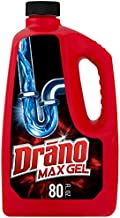 Drano Max Gel Dain Clog Remover and Cleaner for Shower or Sink Drains, Unclogs and Removes Hair, Soap Scum, Bloackages, 80 oz