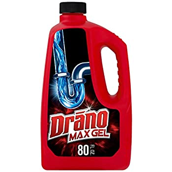Drano Max Gel Drain Clog Remover and Cleaner for Shower or Sink Drains Unclogs and Removes Hair Soap Scum Blockages 80 oz
