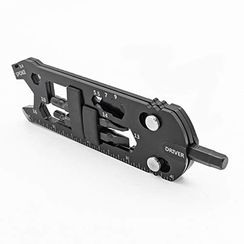 SDFSX Multifunctional Wrench Portable Bicycle Repair Tool Set Outdoor Gadget Bike Multi Tool (A)